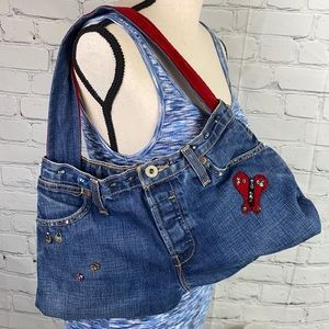One of a kind Levi's Denim bag